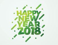 Happy New Year 2018 vector illustration banner design. Happy New Year 2018 vector card Design Stock Photo