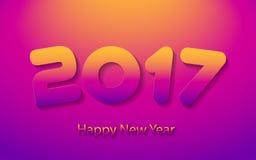 Happy new year 2017 vector illustration. Happy new year 2017 calendar cover, typographic vector illustration Stock Photo