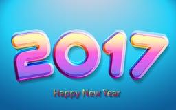 Happy new year 2017 vector illustration. Happy new year 2017 calendar cover, typographic vector illustration Royalty Free Stock Image