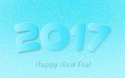 Happy new year 2017 vector illustration. Happy new year 2017 calendar cover, typographic vector illustration Royalty Free Stock Photos