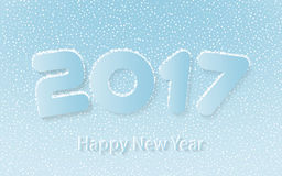 Happy new year 2017 vector illustration. Happy new year 2017 calendar cover, typographic vector illustration Stock Image