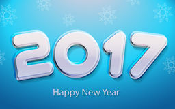 Happy new year 2017 vector illustration. Happy new year 2017 calendar cover, typographic vector illustration Stock Images