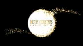 Happy New Year, vector illustration Christmas background royalty free stock image