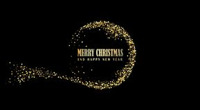 Happy New Year, vector illustration Christmas background stock photos