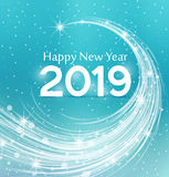 Happy New Year 2019. Vector illustration Christmas background Royalty Free Stock Photography