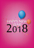 Happy New Year 2018. Vector illustration Christmas background Stock Images