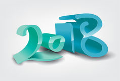 Happy New Year 2018. Vector illustration Christmas background Stock Photos