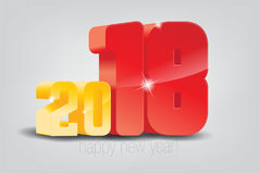 Happy New Year 2018. Vector illustration Christmas background Royalty Free Stock Photos