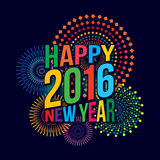 Happy new year 2016. Vector illustration of Colorful fireworks. Happy new year 2016 theme Royalty Free Stock Photos