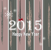 Happy New Year 2015. Vector illustration of 2015 happy new year on a decorated background Royalty Free Stock Images