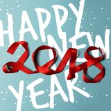 Happy new year 2018 vector illustration. Design element Royalty Free Stock Photography