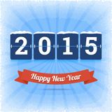Happy New Year 2015 vector illustration. Happy New Year 2015 vector illustration with digits board panel royalty free illustration