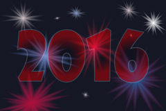 Happy new year 2016. Vector illustration with fireworks stock illustration