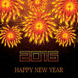 Happy New Year 2016. Vector Illustration of Fireworks Royalty Free Stock Images