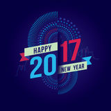 Happy new year 2017. Vector illustration of fireworks. Happy new year 2017 theme Royalty Free Stock Image