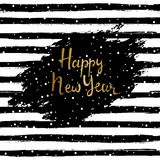 Happy new year vector illustration. Hand drawn lettering.   Stock Photography