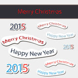 2015  Happy New Year Vector Illustration. 2015 Label Badge Vector Illustration Royalty Free Stock Images