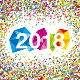 Happy New Year 2018. royalty free illustration