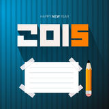 2015 - Happy New Year Vector Illustration Royalty Free Stock Photo