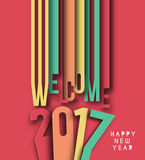 Happy new year 2017, Vector illustration Royalty Free Stock Images
