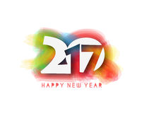 Happy new year 2017, Vector illustration Stock Images