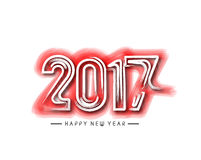 Happy new year 2017, Vector illustration Royalty Free Stock Photography