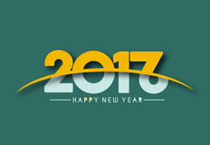 Happy new year 2017, Vector illustration Royalty Free Stock Photos
