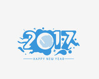 Happy new year 2017, Vector illustration Stock Photography