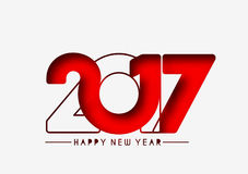 Happy new year 2017, Vector illustration Stock Photos