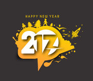Happy new year 2017, Vector illustration Royalty Free Stock Image