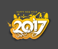 Happy new year 2017, Vector illustration Royalty Free Stock Photo