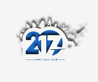 Happy new year 2017, Vector illustration Stock Image
