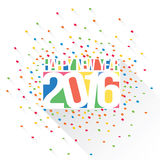 Happy new year 2016. Vector illustration. Happy new year 2016 theme Stock Image
