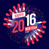 Happy new year 2016. Vector illustration. Happy new year 2016 theme stock illustration