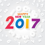 Happy New Year 2017. Vector illustration of happy new year 2017 theme vector illustration