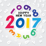 Happy New Year 2017. Vector illustration of happy new year 2017 theme royalty free illustration