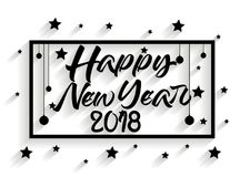 Happy new year 2018 vector ilulustration Royalty Free Stock Photography