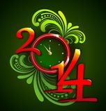 Happy New Year 2014. Vector image for the New year 2014 Stock Image