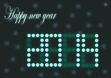 Happy new year. Vector image. Happy new year Stock Photo