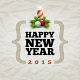 Happy New Year 2015. Vector modern Happy New Year 2015 design template. Elements are layered separately in vector file Stock Photo
