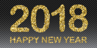 Happy New Year 2018. Vector New Year background Stock Photo