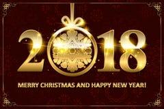 Happy New Year 2018. Royalty Free Stock Photo