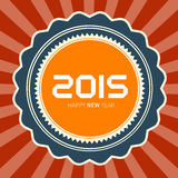 2015 Happy New Year. Vector Retro Illustration Stock Photos