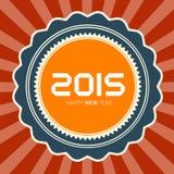 2015 Happy New Year. Vector Retro Illustration vector illustration