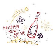 Happy New Year vector. Silvester and party decoration Stock Image