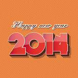Happy new year 2014. Vector template royalty free illustration