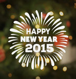 Happy new year vector with text Stock Photography