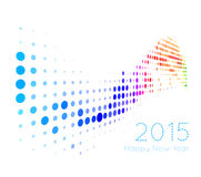 Happy 2015 new year. Vector on white background Stock Image