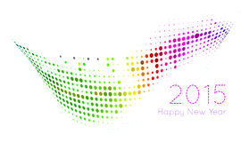Happy 2015 new year. Vector on white background Royalty Free Stock Photography
