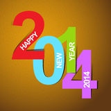 Happy new year 2014. This is Happy new year 2014 vetor file Stock Image
